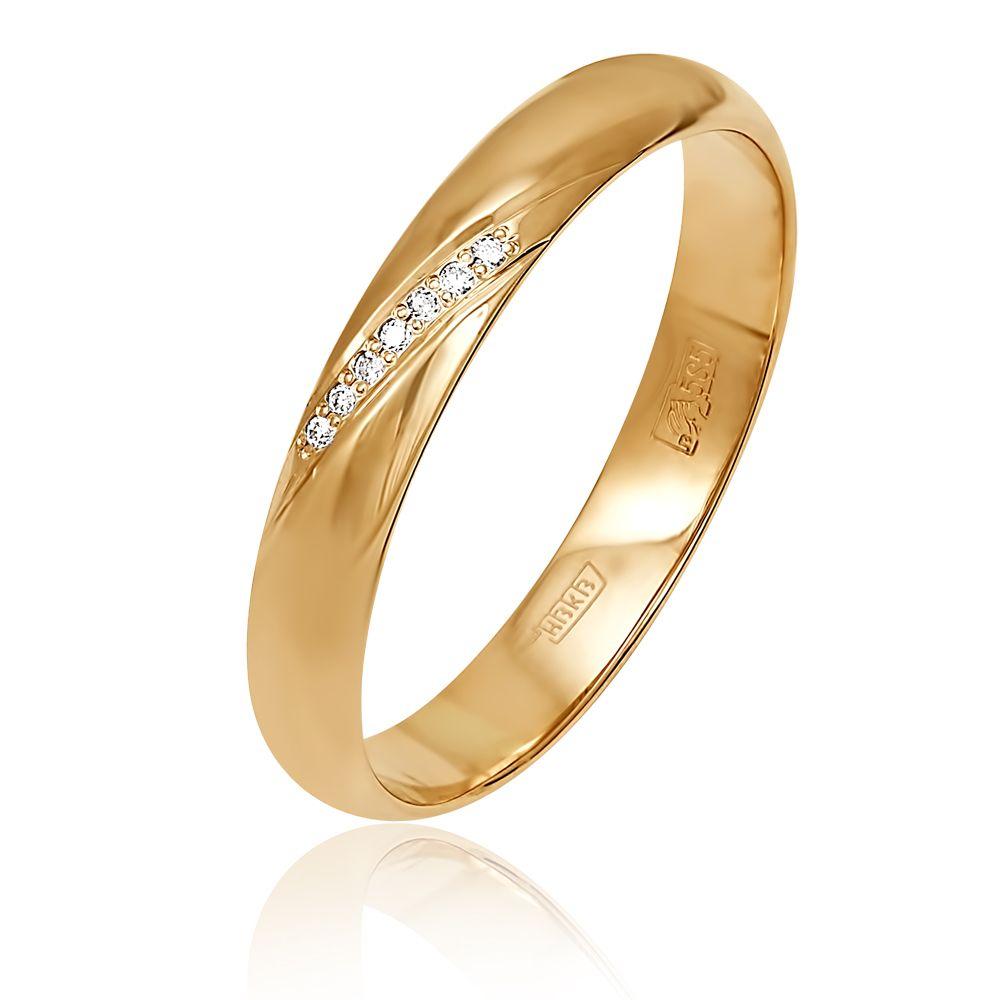 c9327433cac4 Обручальное кольцо из красного золота 585 пробы с бриллиантами (арт.  6-31-0019-101). Белый Бриллиант