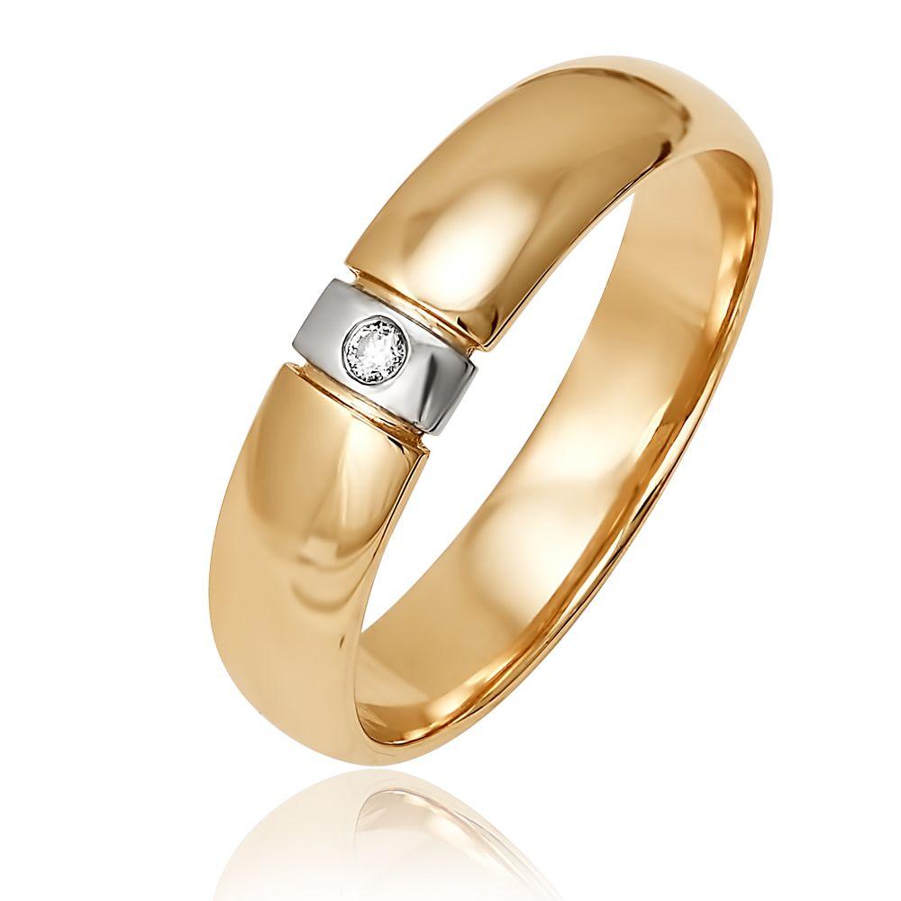 25a03b69ff9a Обручальное кольцо из красного золота 585 пробы с бриллиантом (арт.  6-31-0025-101). Белый Бриллиант