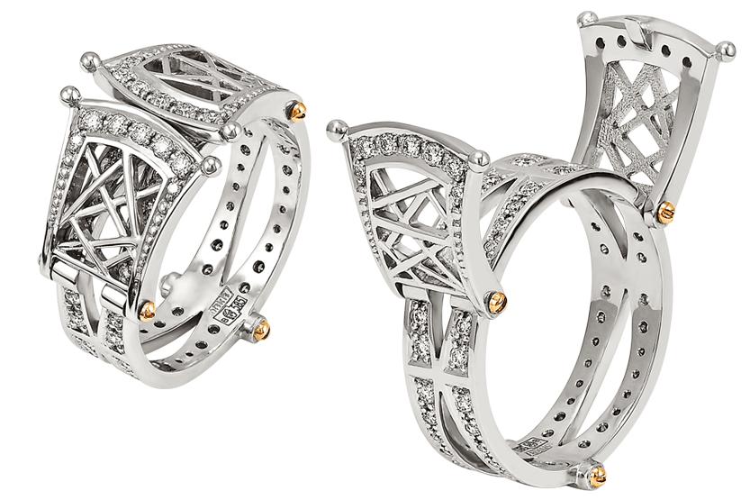 3f571022799c Кольцо «Компас», кольцо «Мост» - «Белый Бриллиант» ювелирная компания